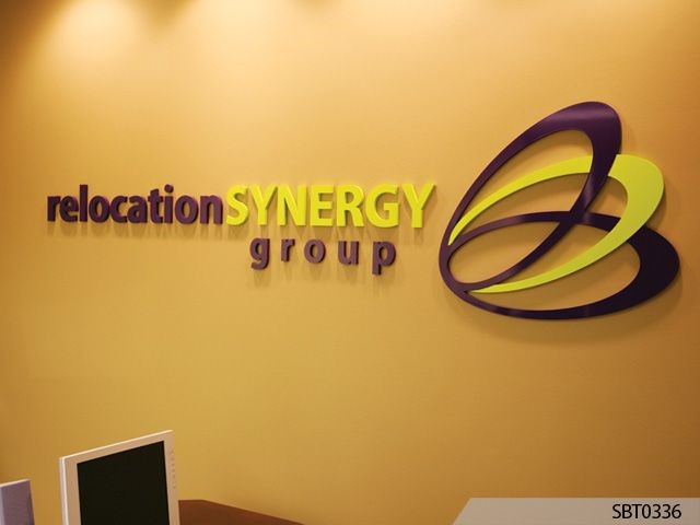 Interior Dimensional Lettering with Logo