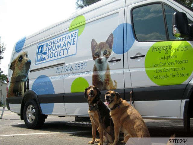van wrap for humane society