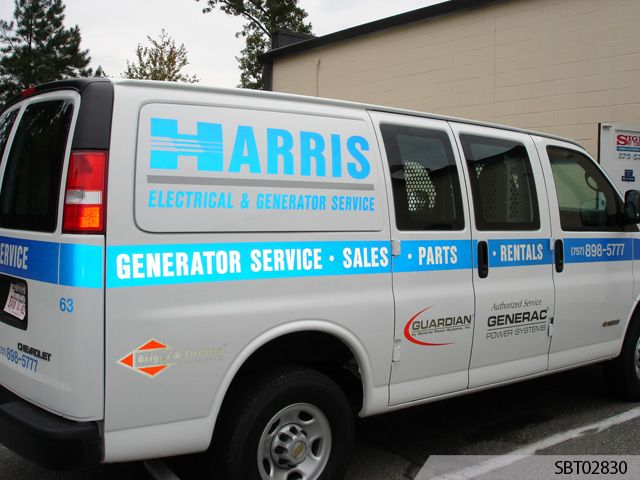 Electrical Services Custom Reflective Truck Lettering and Graphics