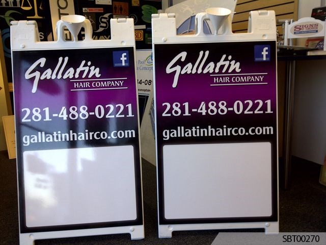 Dry Erase Hair Salon Custom A-Frame Display