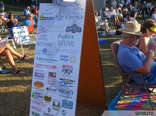 Jazz Festival Custom -A-Frame Sponsor Display