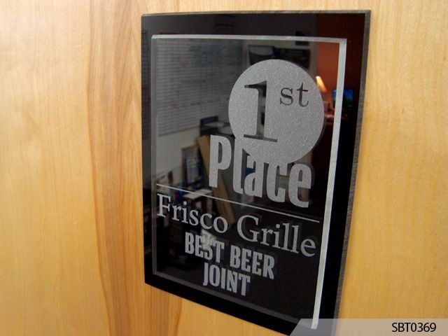 Acrylic Award Best Beer Joint