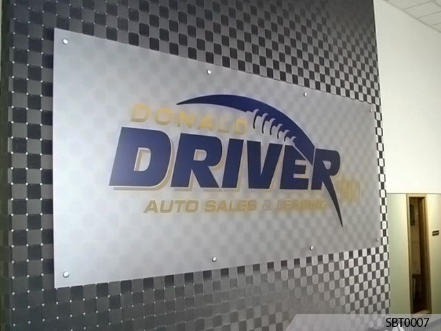 Auto Dealer Acrylic with Standoffs