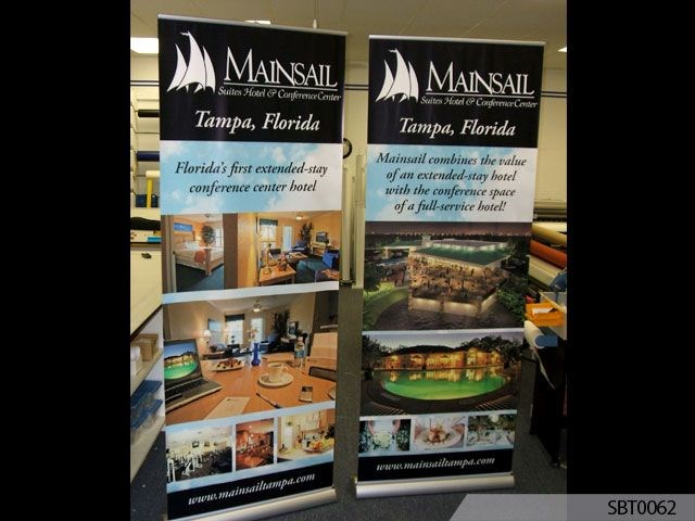Hotel Banner Stand