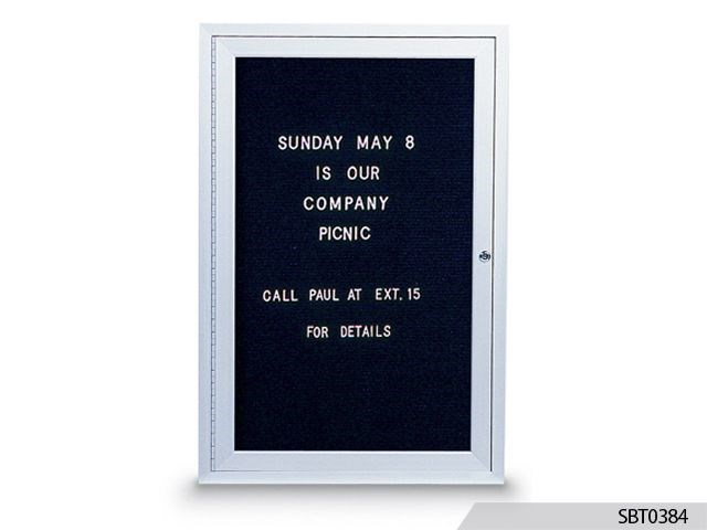 Enclosed Track Letter Bulletin Board