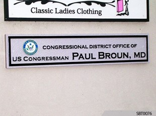 Congressman Cast Plaque