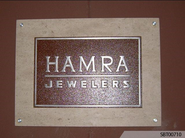 Jeweler Custom Cast Plaque