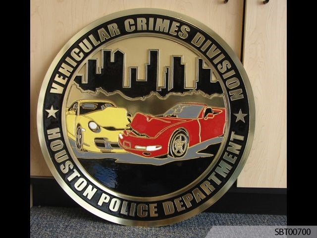 Police Custom Cast Plaque