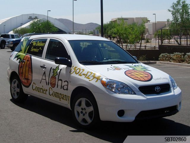 Aloha Courier Custom Vehicle Graphics