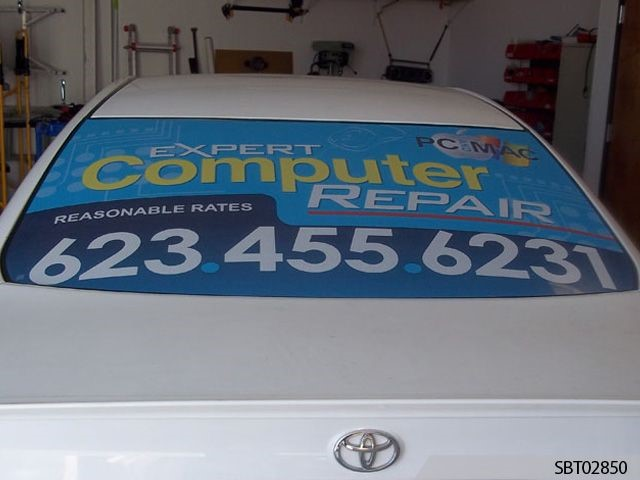 Custom Perforated Vehicle Window Graphics