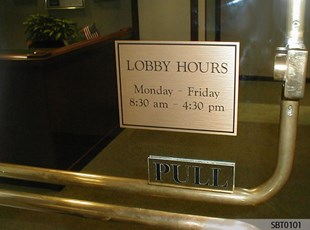 Engraved Office Sign