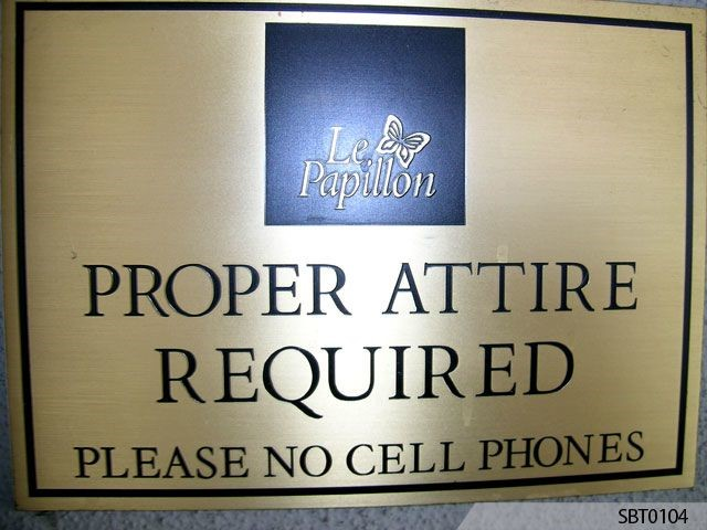 Proper Attire Required Engraved Sign