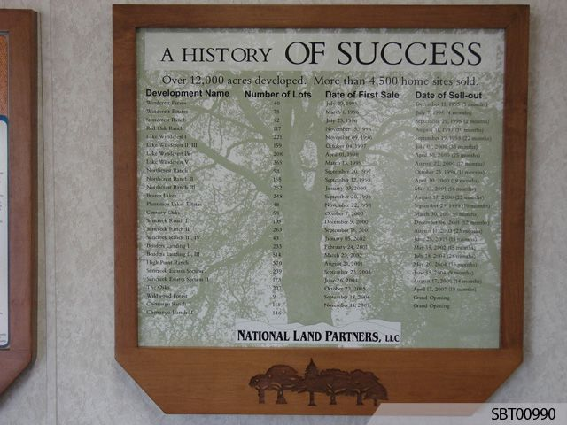 National Land Partners Engraved Sign
