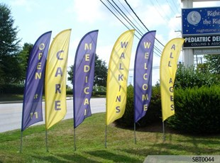 Medical Center Feather Banners