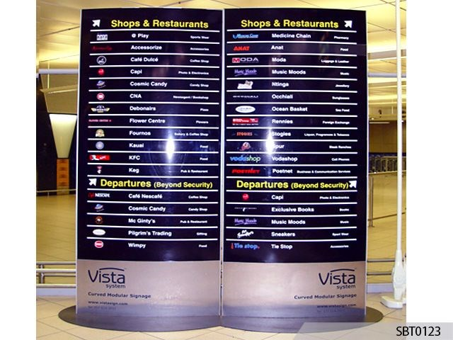 Airport Directory Freestanding Frame