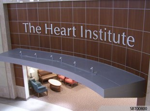 Heart Institute Interior Dimensional Lettering