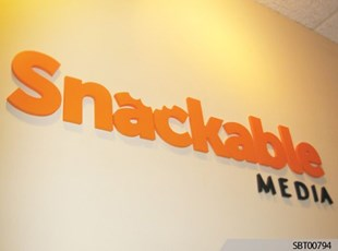 Snackable Media Interior Dimensional Lettering