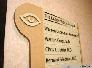 Eye Center Interior Directory Sign