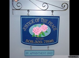 Justice of the Peace Interior Directory Sign