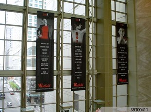 Mall Ceiling Fabric Banners