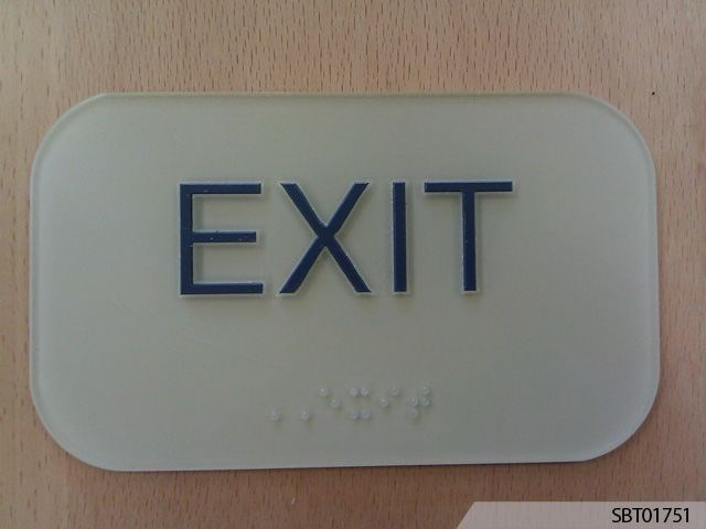 Indoor OSHA Exit Safety Sign