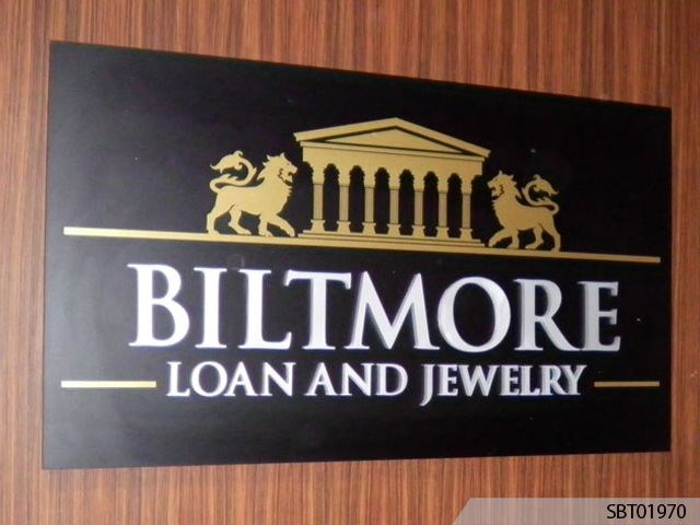 Biltmore Indoor Custom Plastic Sign