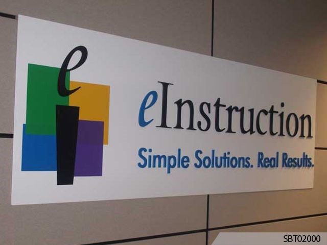 eInstruction Indoor Custom Plastic Sign