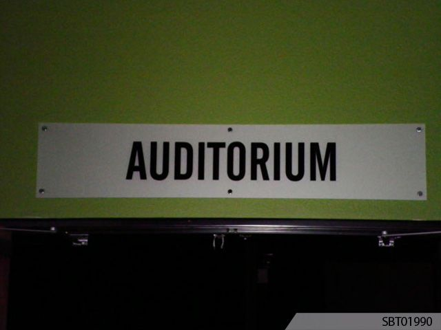 Auditorium Indoor Custom Plastic Sign