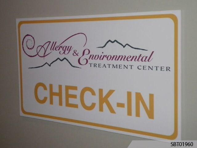 Healthcare Indoor Custom Plastic Sign