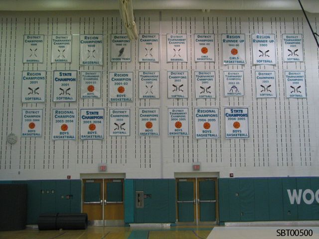 Gym Custom Championship Pole Banners