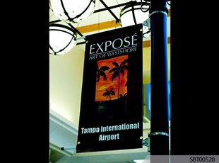 Mall Indoor Custom Pole Banner