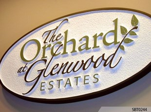Indoor Routed & Sandblasted Sign