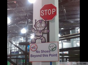 Robot Custom Routed Sign