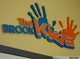 The Brook Custom Routed Sign