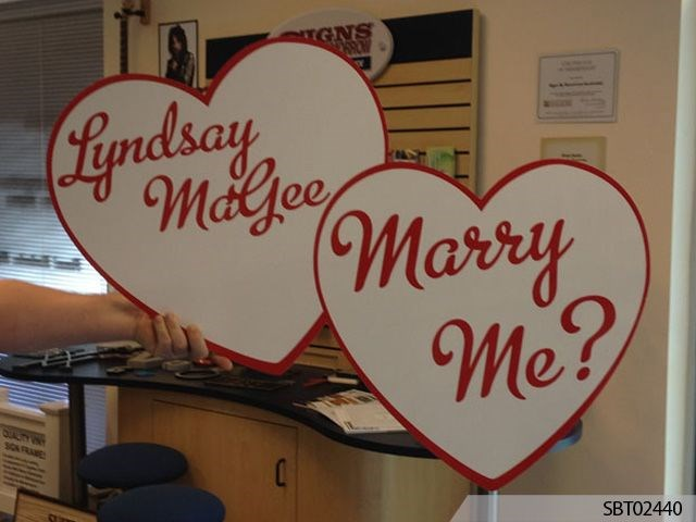 Proposal Custom Routed Heart Sign
