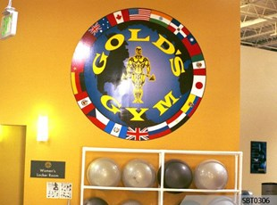 Golds Gym Wall Graphics