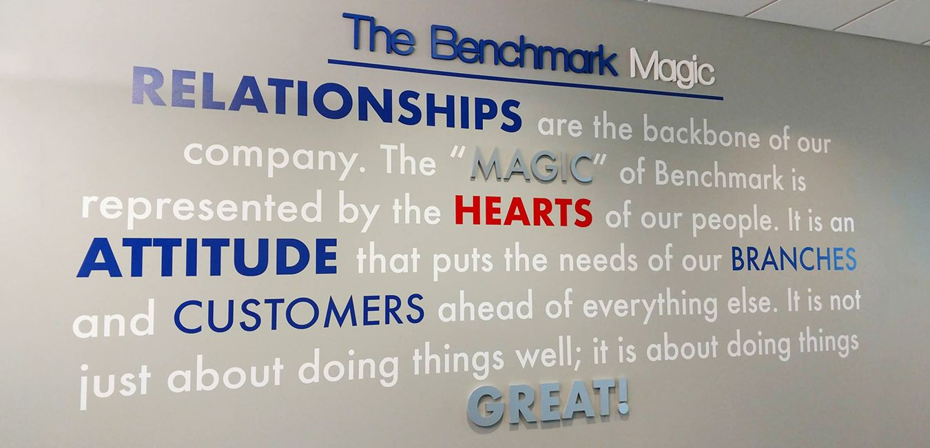 Wall Graphics with brand mission