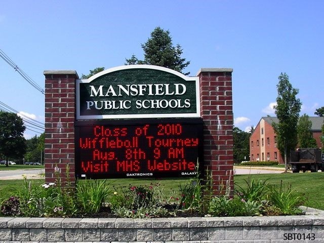 School LED Monument Sign