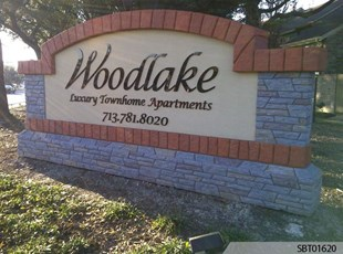 Woodlake Apartments Custom Monument Sign