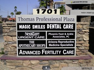 Medical Center Custom Monument Sign