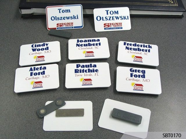 Cleaning Crew Name Badges