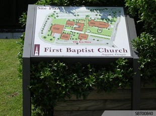 Baptist Church Custom Exterior Directory Sign
