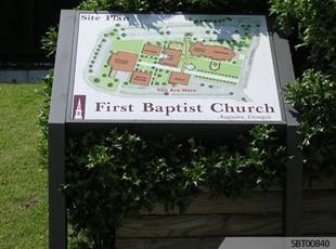 Baptist Church Custom Exterior Directory Sign
