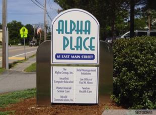 Alpha Place Custom Exterior Directory Sign