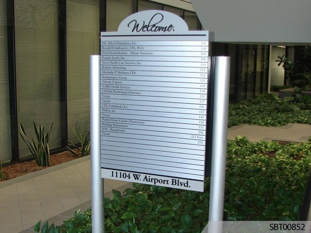 Professional Building Custom Directory Sign