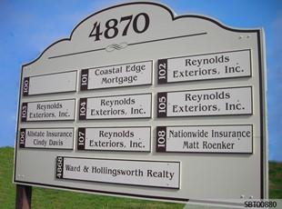 Custom Exterior Directory Sign