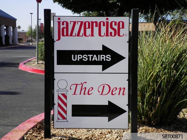 Jazzercise Custom Exterior Directory Sign