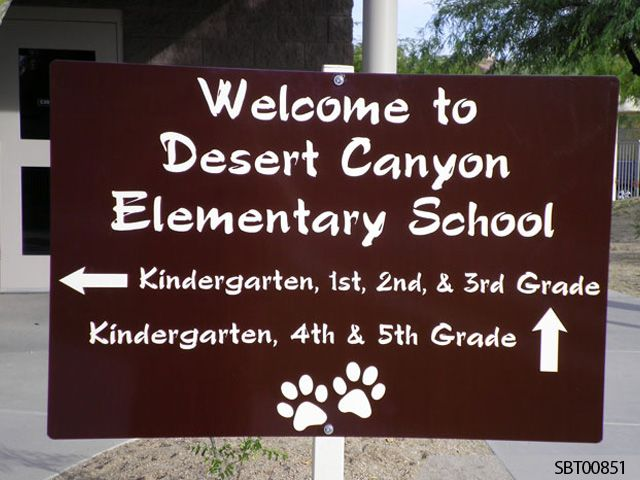 Elementary School Custom Directory Sign