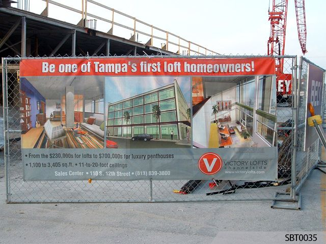 Construction Site Mesh Banner