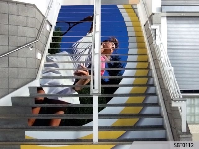 Tennis Tournament Stair Graphics
